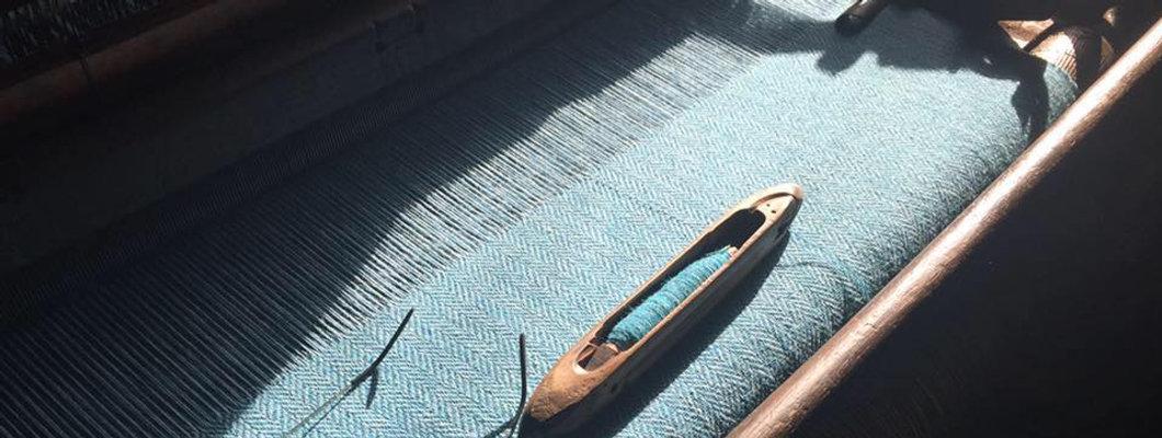Light Blue Herringbone Harris Tweed