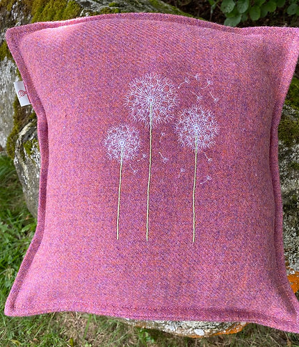 Harris Tweed Cushion with Dandilions