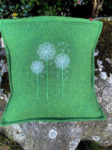 Harris Tweed Cushion with Dandilions