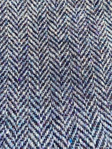Navy Lilac Herringbone