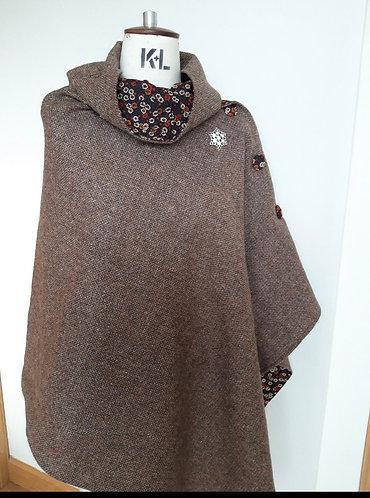 Autumn Brown Harris Tweed Cape