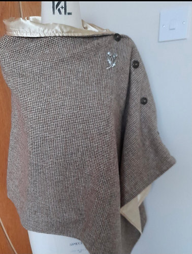 Natural Weave Harris Tweed Cape