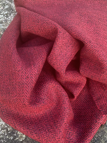 Two Tone Red Herringbone
