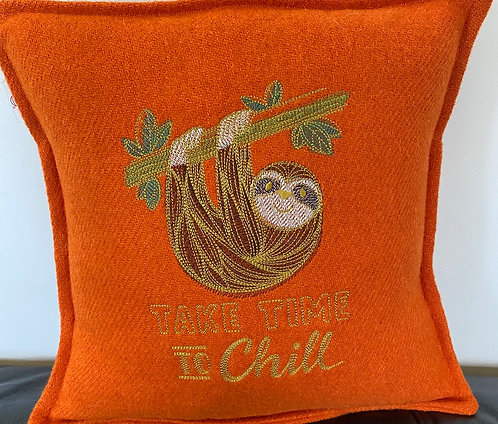 Chill Out Harris Tweed Cushion