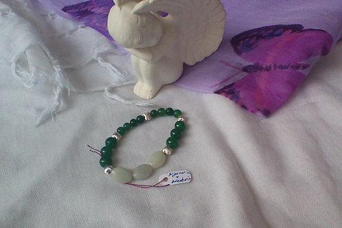 Aventurine & Aquamarine bracelet