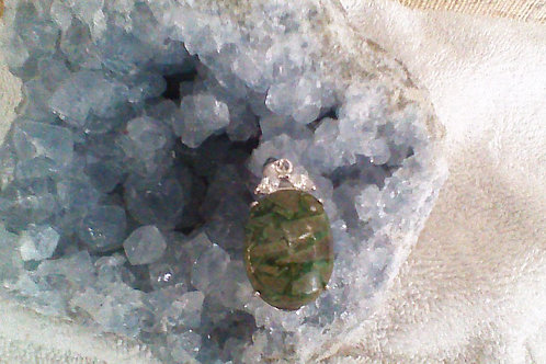 SOLD!!  Moss Agate pendant