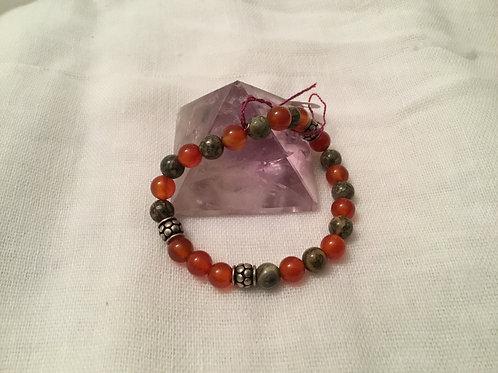 Ocean Jasper & Carnelian bracelet