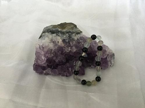 Fluorite & Onyx bracelet