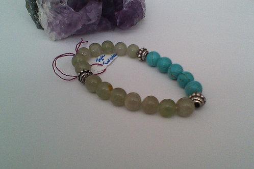 SOLD!!  Turquoise & Jade bracelet