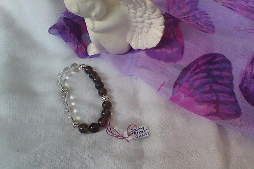 Smoky quartz & Quartz bracelet