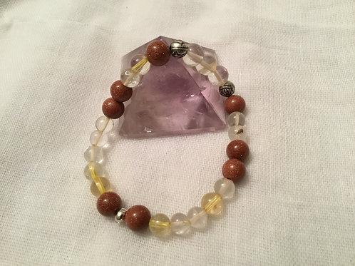 Citrine & Goldstone bracelet