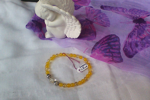 Aragonite, Citrine & Quartz bracelet
