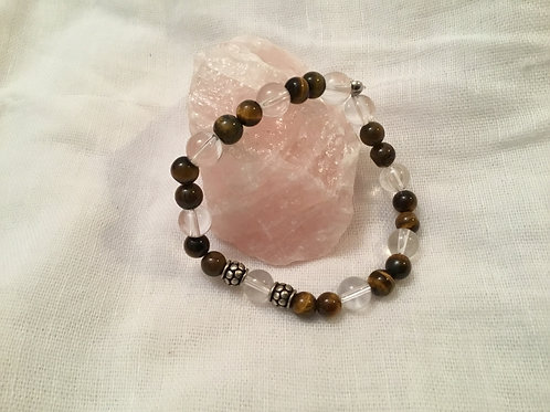 Tigers Eye & Quartz bracelet