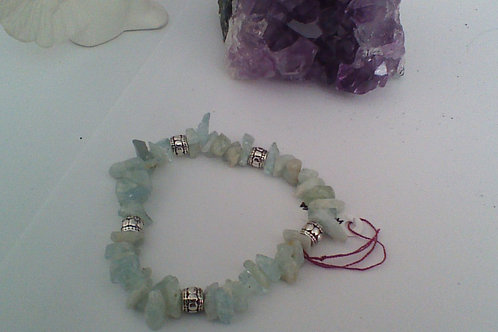 SOLD!! Aquamarine chip bracelet