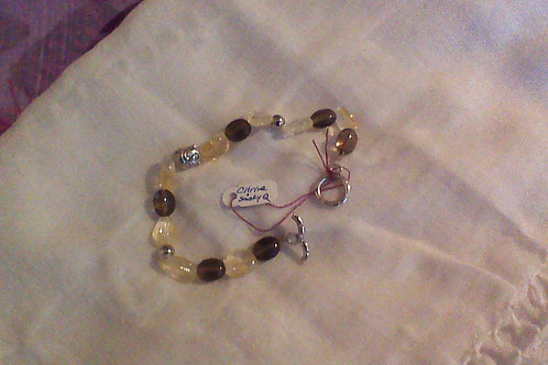 SOLD!! Citrine & Smoky Quartz bracelet