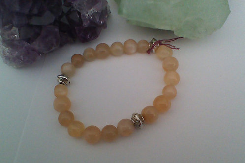 SOLD!! Peach Moonstone bracelet