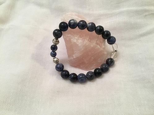 Sodalite & Quartz bracelet