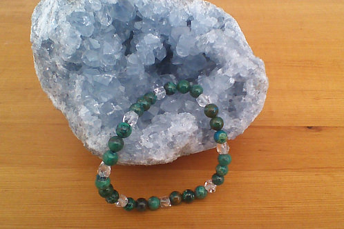 Chrysocolla & Clear Quartz bracelet