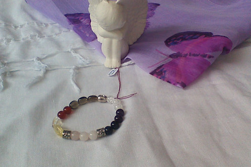 SOLD!! Chakra bracelet with Buhdda spacer