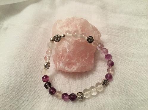 Fluorite & Clear Quartz bracelet