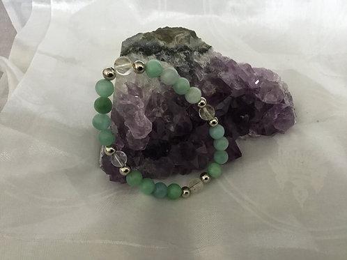 Amazonite & Quartz bracelet