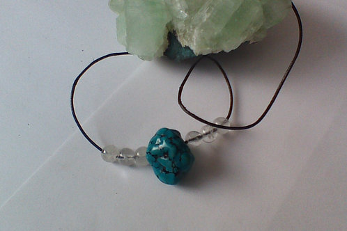 Turquoise & Clear Quartz necklace