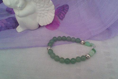 Aventurine, Chrysoprase & Quartz bracelet