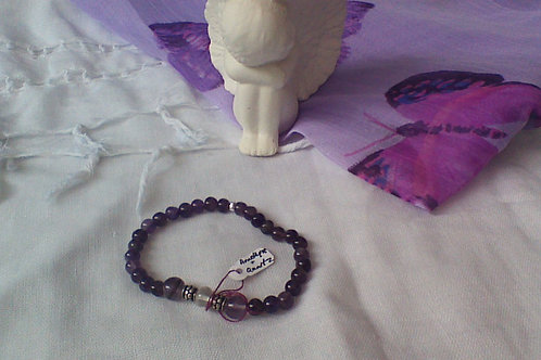 SOLD!! Amethyst & Quartz bracelet