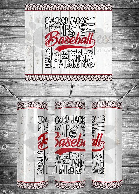 Baseball-Cracker Jack Tumbler