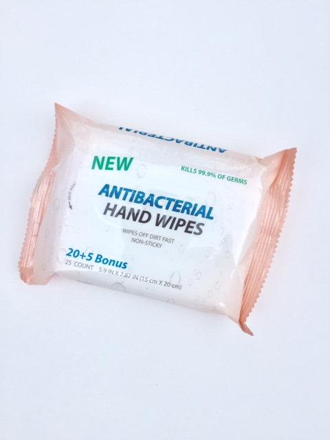 Antibacterial Hand Wipes 20+5 Bonus                 25 Wipes