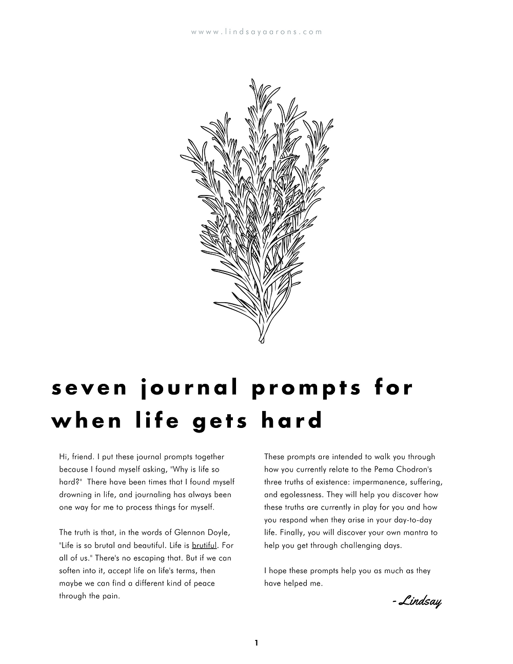 journal prompts for why life is so hard   lindsay aarons