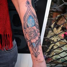 Geometric mandala geometric gem tattoo.j