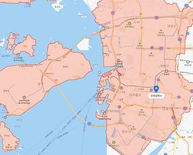 인천지역 지도