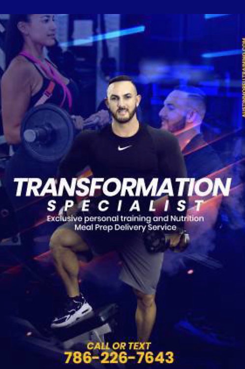 3 month Training 5 x a week (60 sessions)