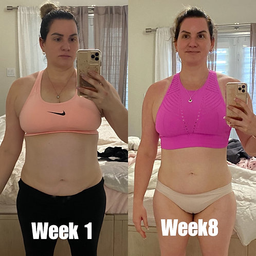 Beatriz Fernández 1 month training  3 x a  week
