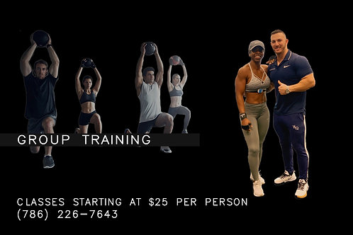 Group Training Minimum ( 4 person per class)