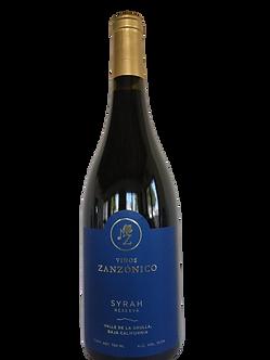 Vinos Zanzónico. Reserva Syrah 2018