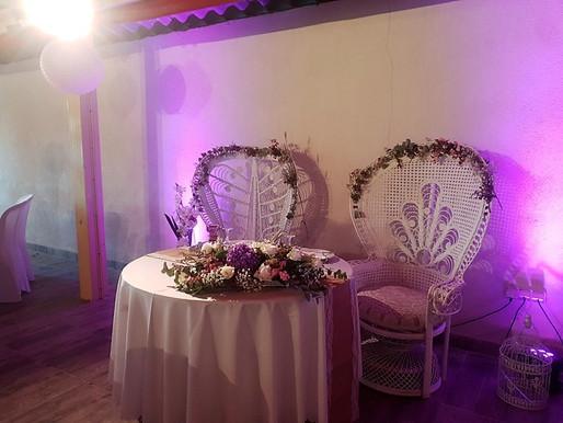 Décorations de Mariage - Salle de réception