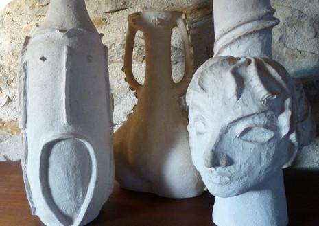 Céramiques d'Yvon Rolland Peintre-sculpteur.