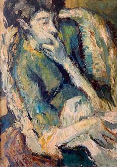 Un portrait de Maryse Rolland, mamn d'Aymery et Joachim par Yvon, alors enceinte .