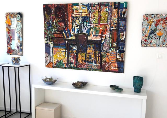 Peinture d'Aymery et Céramiques d'Iza Emberger