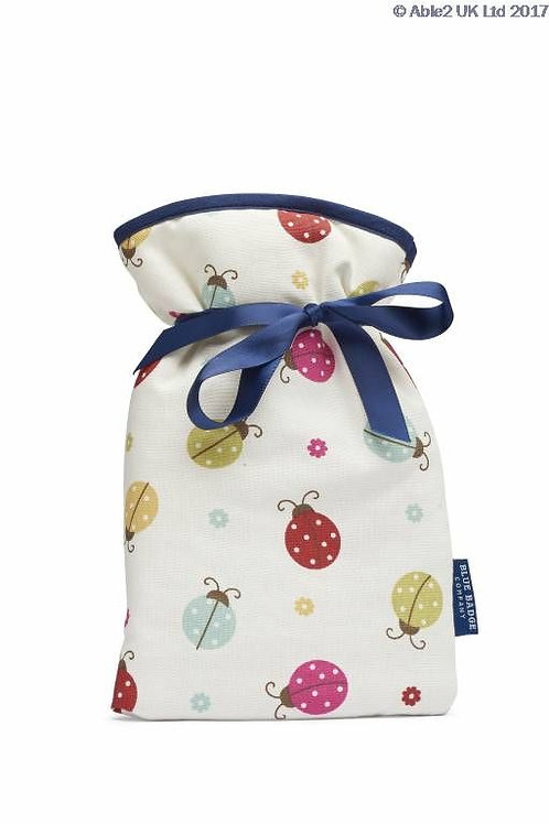 Blue Badge Mini Hot Water Bottle - Ladybird