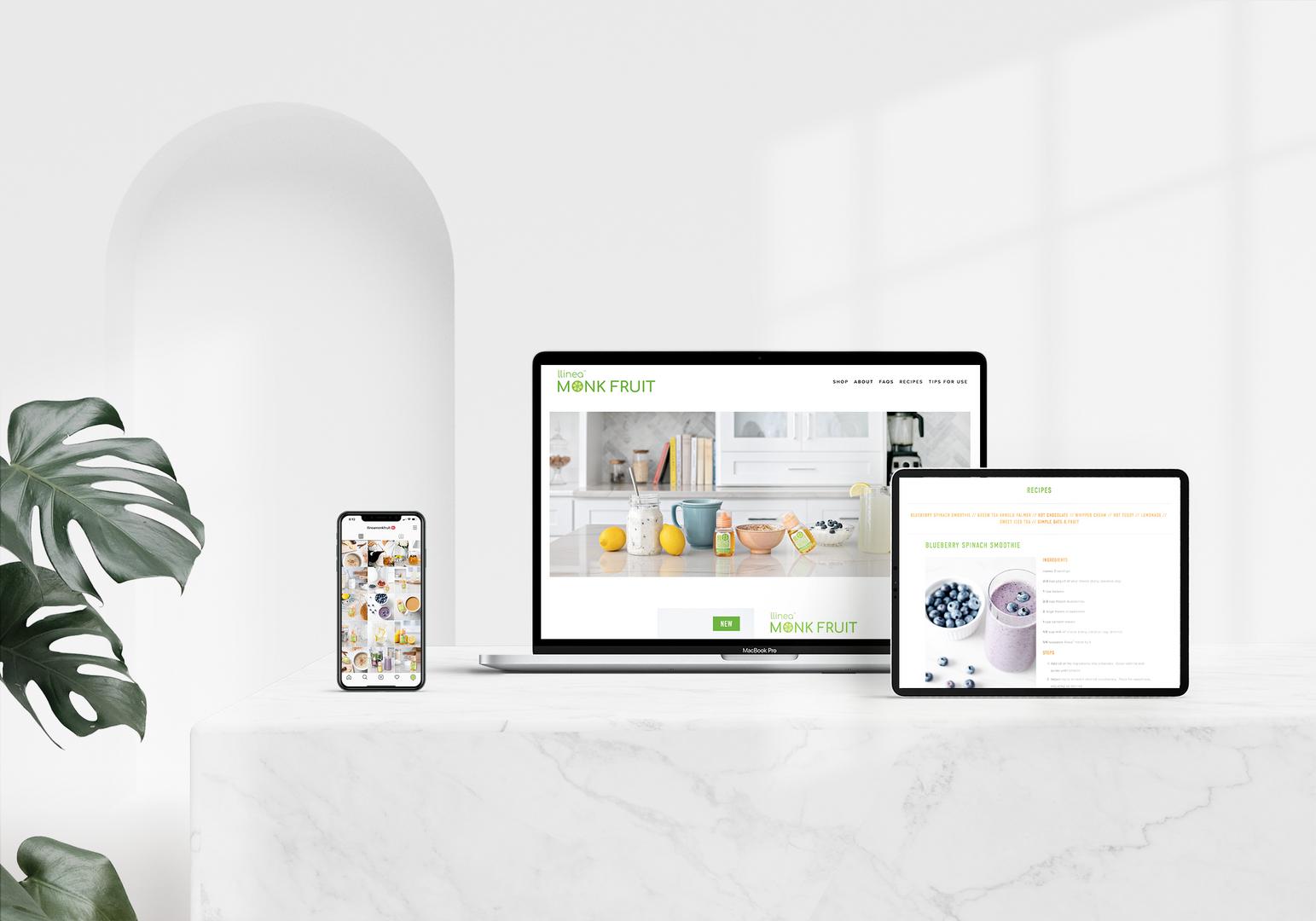 llinea monk fruit website