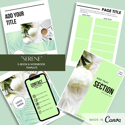 """Serene"" E-book & Workbook Template"