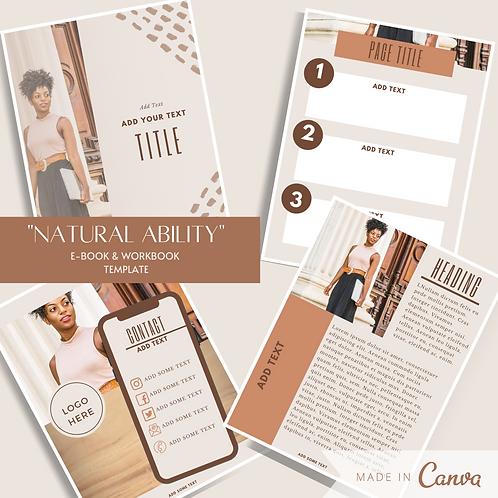 """Natural Ability"" E-book & Workbook Template"