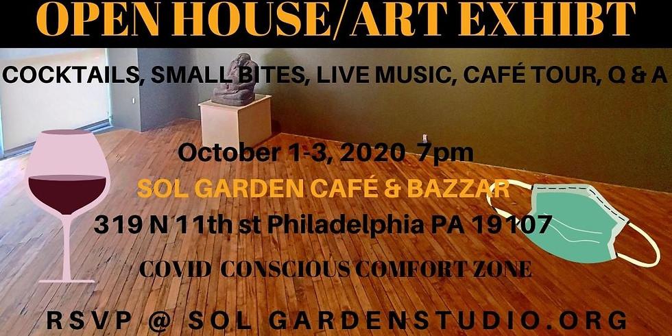 Cafe & Bazaar OPEN HOUSE/ART EXHIBIT
