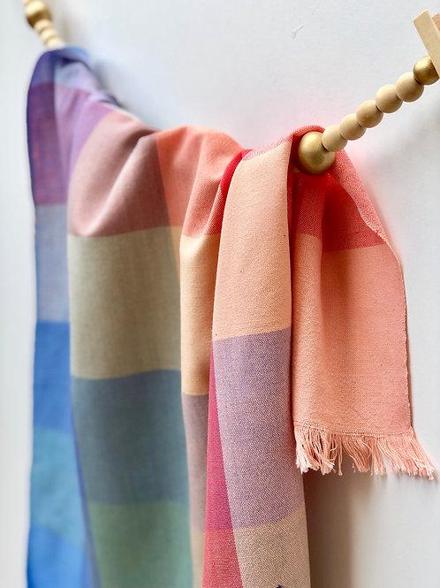 GuaTela Towel - Rainbow Squares