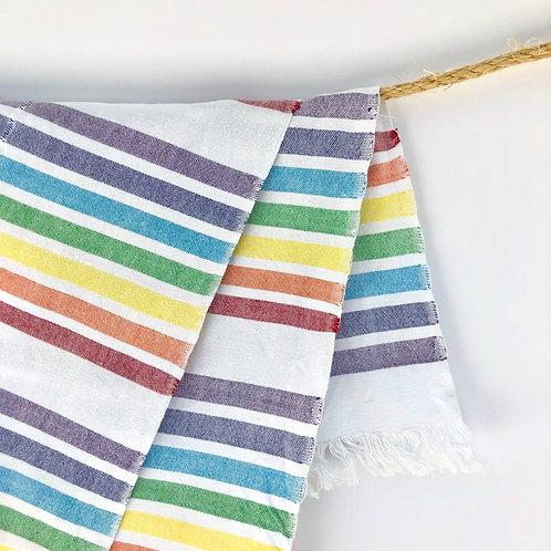 GuaTela Towel - Rainbow Stripes