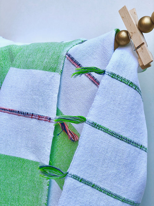 GuaTela Towel - Electric Green Dawn