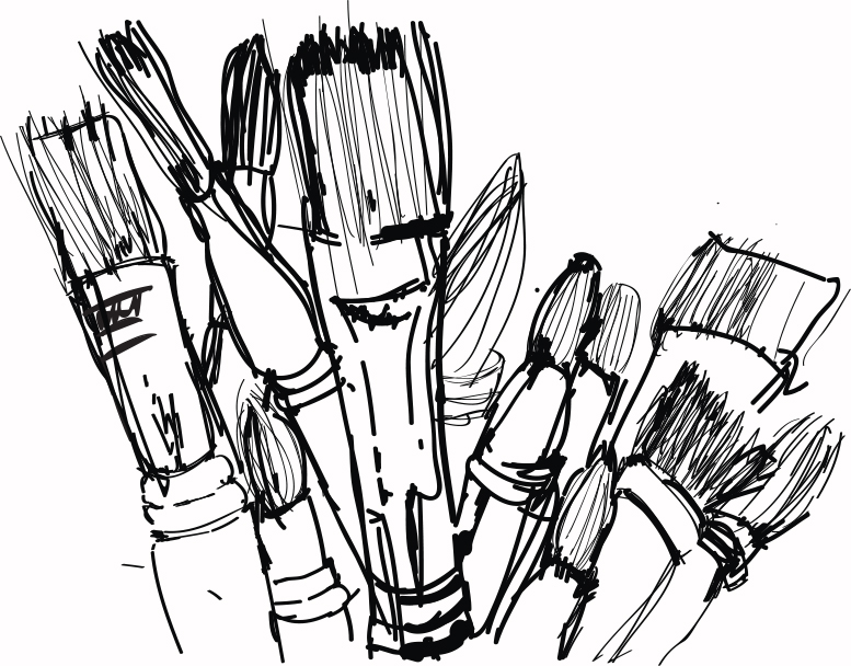 brushes hand drawn